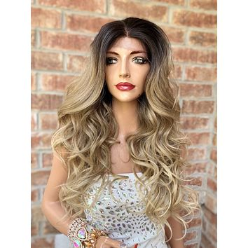 Ombre' Blond Lace Hair Wig | Middle Parting | Maya 0519