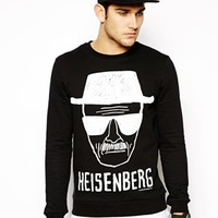 ASOS Breaking Bad Crew Neck Sweat - Black