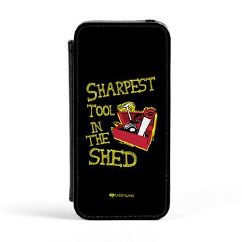 Sassy - Sharpest Tool in the Shed #10098 PU Leather Case for iPhone 5/5s by Sassy Slang