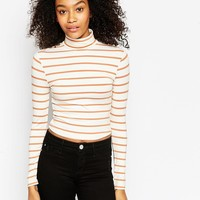 ASOS Top in Turtle Neck with Stripe at asos.com
