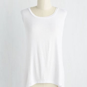 Mid-length Sleeveless Versed in Versatility Top in White