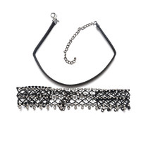 Chain Alloy Diamonds Tassels Accessory Choker Necklace 9431158279]