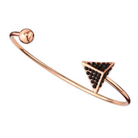 Pave Arrow and Ball Cuff Bracelet, Rose Golden/Black - Jules Smith