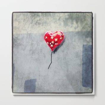 Banksy Mended Heart, Valentine Metal Print by Mimosa State of Mind