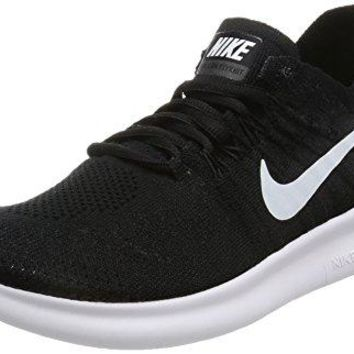 Nike Women's Free Rn Flyknit 2017 Black/White Black Running Shoe (9.5)