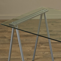 Flash Furniture Glass Top Writing Desk | Wayfair