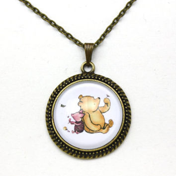 Winnie the Pooh, Pooh & Piglet Necklace