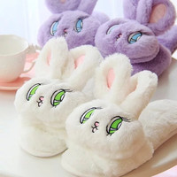 Bunny Plush Home-wear Slippers Shoes sold by Moooh!!