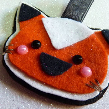Cute Fox Kawaii Charm Keychain Hanging Felt