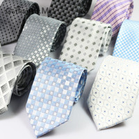 New Brand Plaid Mens ties Fashion Casual Formal Business Neckties for Man Jacquard Woven Gentlemen Wedding Party Tie