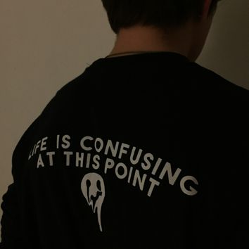 "Seffer — Long Sleeve ""Confusing Life"" T-Shirt"