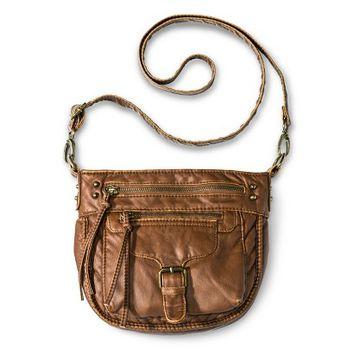 Women's Distressed Crossbody Handbag with Buckle Detail - Mossimo Supply Co.™