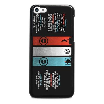 twenty one pilots kitchen sink iphone 5c case cover  number 1
