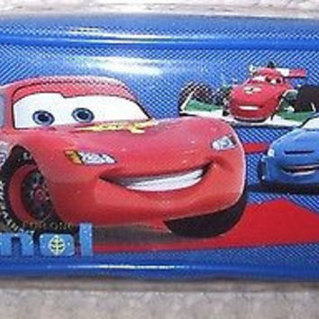 DISNEY CARS LIGHTNING MCQUEEN BLUE PENCIL CASE CARRYING CASE-BRAND NEW!