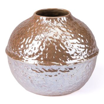 Textured Sm Vase Pearl Yellow