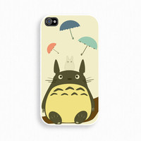 Totoro- iPhone 4 Case, iPhone case, iPhone 4s Case, iPhone 4 Cover, Hard iPhone 4s Case