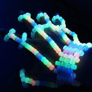 Glow in the Dark Rainbow Fingerlets