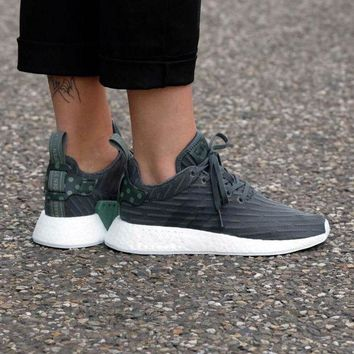 LMFUX5 Adidas WMNS NMD R2 Utivy/Footwear White Boost Sport Running Shoes Classic Casual Shoes Sneakers
