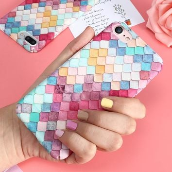 Colorful 3D Scales iPhone Case - Fits iPhone 6, 6s, and 7