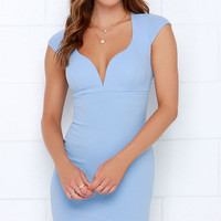 Puttin' on the Ritz Periwinkle Bodycon Dress