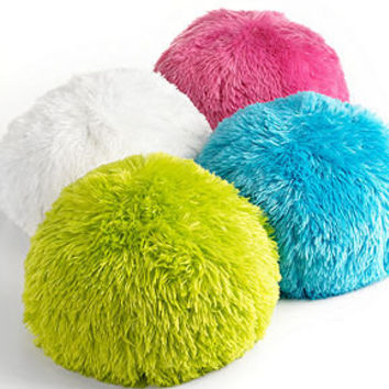 Teen Vogue Bedding, Long Hair Circle Pouf 15 Round Decorative Pillow - Decorative Pillows - Bed & Bath - Macy's