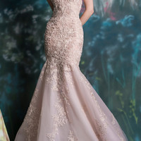 Zoe Embroidered Mermaid Gown | Moda Operandi