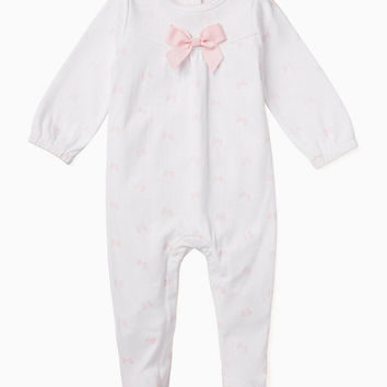layette bow footie