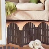 Espresso Adirondack Pet Collection Freestanding Gate - For Small Dog / Puppy
