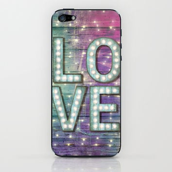Love is the Light of Your Soul (LOVE lights III) iPhone & iPod Skin by soaring anchor designs ⚓ | Society6