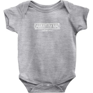 dammit palindrome Baby Onesuit