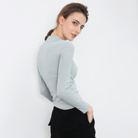Slim Korean Winter Long Sleeve T-shirts Cotton Women's Fashion Bottoming Shirt [6466181700]