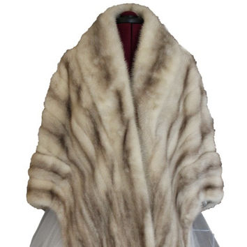 Vintage 1950s Sable Brown Mink Fur Stole // Shrug // Wrap // Cape // Shawl - Medium