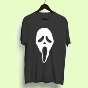Scream Ghostface Fan T-Shirt horror movie film halloween tee shirt