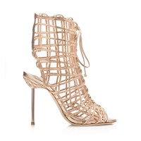 Sophia Webster Delphine Gold Bootie - Shop Luxury Shoes | Editorialist