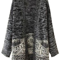 Marled Heather Grey Cardigan - OASAP.com