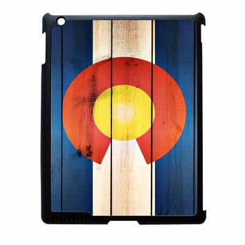 Colorado State Flag Wood Design iPad 4 Case