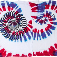 Spitfire Classic Swirl Tee XLarge White/tie Dye Pur & Red With Black
