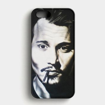 Johnny Depp Makeup iPhone SE Case