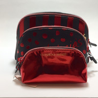 Victoria's Secret Makeup Bag Trio Red and Black