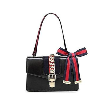 Beatfull Designer Handbags for Women, Fashion PU Leather Shoulder Bag Cross Body Bag with a Bow Tie  YSL bag