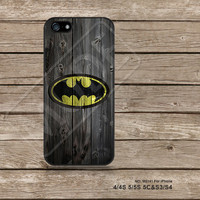 Batman Wood iPhone5s Case iPhone 4 case iPhone 5C Case iPhone5 Case iPhone Case Samsung Galaxy s3 Galaxy s4 - M5141