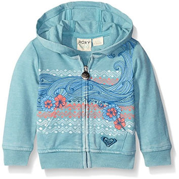 Roxy Baby Wave Rider Hoodie, Cameo Blue, 12-18 Months