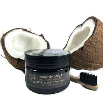 GenZ Natural Teeth Whitening Powder - Made with Activated Coconut Charcoal