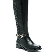 GUESS Women's Hava Quilted Riding Boots