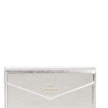 kate spade new york iPhone 7 metallic faux-leather wristlet | Nordstrom