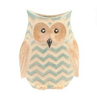 Blue Chevron Owl Vase | Kirklands