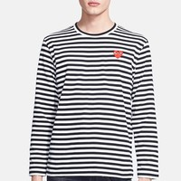 Comme des Garcons 'Play' Long Sleeve Stripe Crewneck