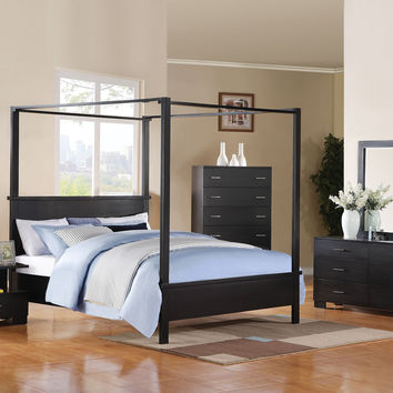 London Canopy 4 Pcs Queen Bedroom Sets