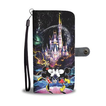 KUYOU Mickey And Minnie Disney Castle Wallet Phone Case