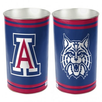 NCAA Arizona Wildcats Metal Wastebasket